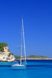 Sailing yacht. In the Ionian sea Greece Stock Images