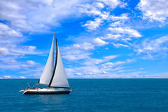 Sailing yacht. In the Ionian sea Greece Royalty Free Stock Photo