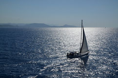 Sailing yacht Stock Image