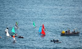 Sailing yacht boats race Royalty Free Stock Image