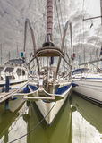 Sailing Yacht Bow Royalty Free Stock Images
