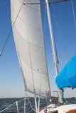 Sailing yacht catches the wind Stock Photo