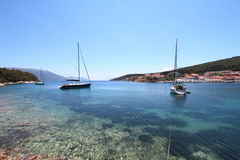 Sailing yacht in Cephalonia Stock Image