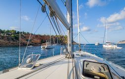 Sailing yacht deck Royalty Free Stock Photography
