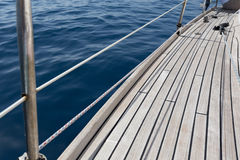 Sailing yacht deck Royalty Free Stock Images