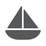 Sailing yacht flat icon. Sailing yacht flat square icon. Vector illustration EPS 10 Stock Image