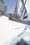 Sailing yacht full speed ahead Stock Image