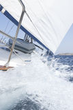 Sailing yacht full speed ahead Stock Images