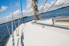 Sailing yacht in the Gulf of Finland Royalty Free Stock Photography