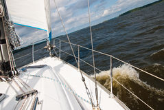 Sailing yacht in the Gulf Royalty Free Stock Photo