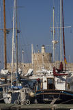 Sailing yacht in harbour Royalty Free Stock Photos