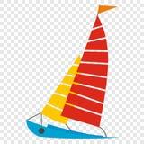Sailing yacht icon Stock Image