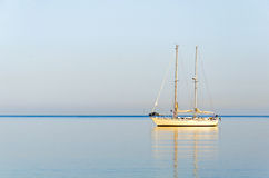 Sailing yacht in the Ionian sea Stock Image