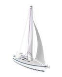 Sailing Yacht Isolated Royalty Free Stock Photo