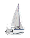 Sailing Yacht Isolated Royalty Free Stock Image