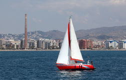 Sailing yacht in Malaga, Spain Royalty Free Stock Photo