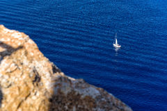 Sailing yacht in the Mediterranean Stock Photo