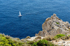Sailing yacht in the Mediterranean Royalty Free Stock Images