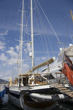 Sailing yacht in the port of saint-tropez Stock Photo