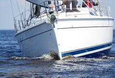 Sailing yacht race Royalty Free Stock Photos