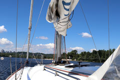 Sailing yacht race. Yachting. pleasure boat Stock Photo