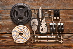 Sailing yacht rigging equipment Royalty Free Stock Photography