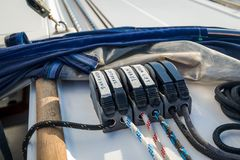 Sailing yacht ropes Royalty Free Stock Image