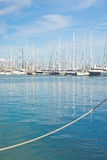 Sailing yacht scene Stock Photo
