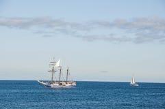 Sailing yacht at sea Stock Photos