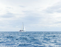 Sailing yacht in sea Royalty Free Stock Photo