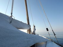 Sailing yacht. Sailing sea walk in the Aegean sea Stock Image