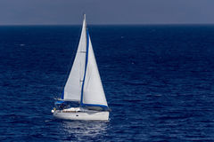Sailing yacht in the sea Stock Photos