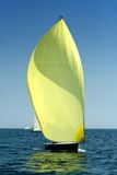 Sailing yacht with spinnaker in the wind Stock Image