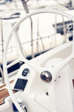 Sailing yacht steering wheels Royalty Free Stock Photography