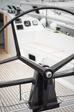 Sailing yacht steering wheels Stock Photos