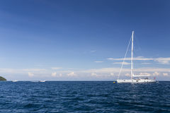 Sailing yacht at Surin national park Royalty Free Stock Photo