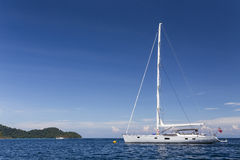 Sailing yacht at Surin national park Stock Images