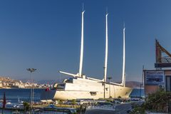 `Sailing Yacht A`, SYA, one of the biggеst sailing yachts in the world stock photos