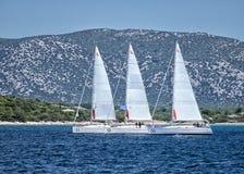 Sailing yacht stock photos