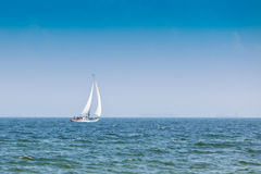 Sailing yacht in the wind Royalty Free Stock Photography