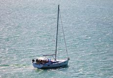 Sailing yacht in the wind in Miami beach south Florida. During summer time having fun Royalty Free Stock Images