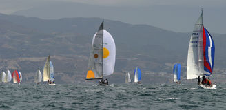 Sailing, yachting #10. Sailing, yachting in the mediterranean sea Royalty Free Stock Photos