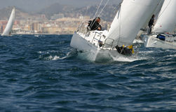 Sailing, yachting #12. Sailing, yachting in the mediterranean sea Stock Images