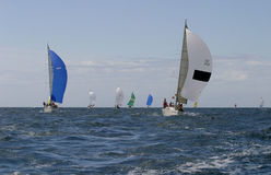 Sailing, yachting #14. Sailing, yachting in the mediterranean sea Royalty Free Stock Photos