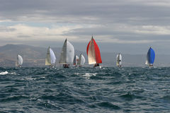 Sailing, yachting #3. Sailing, yachting in the mediterranean sea Royalty Free Stock Photography