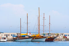 Sailing Yachts Royalty Free Stock Images