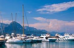 Sailing yachts Royalty Free Stock Images