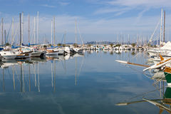Sailing yachts in Alghero Marina, Sardinia, Italy Stock Photography