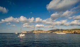 Sailing yachts anchorage Stock Image