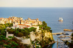 Sailing yachts in bay of Monaco Royalty Free Stock Photography